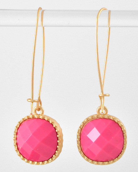 Glam Girl Earrings - Pink