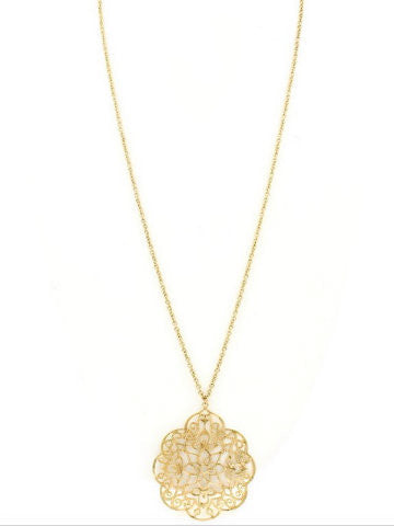 Fancy Filagree Necklace | Gold