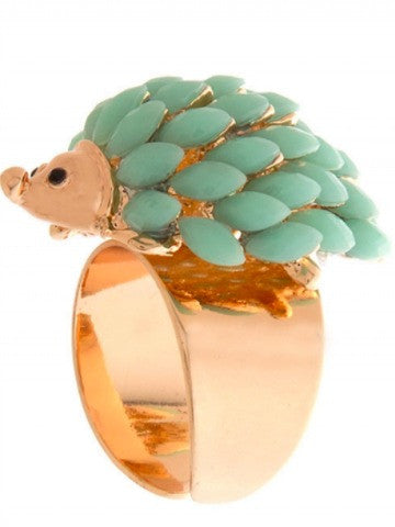mint green hedgehog ring | sassyshortcake.com