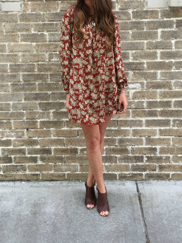Hello Weekend Dress | Rust