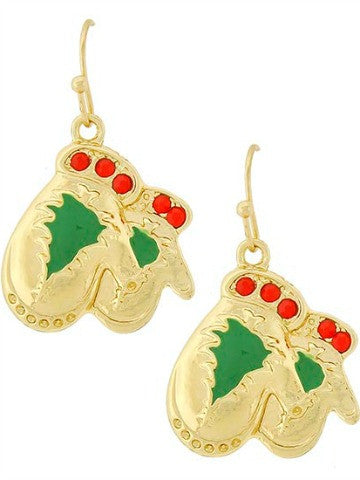 Holiday Mitten Earrings | sassy shortcake