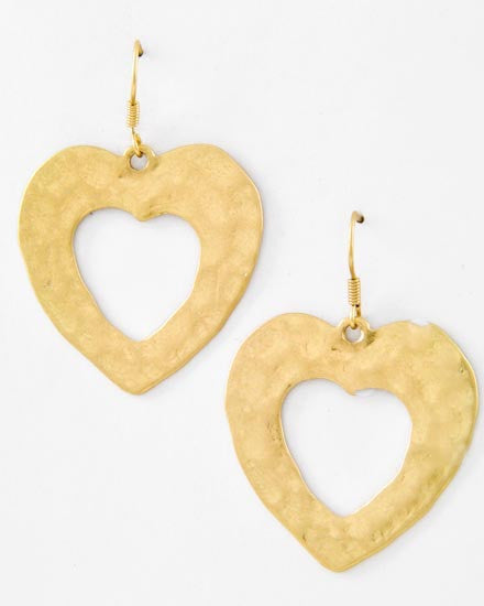 Hollow Heart Earrings