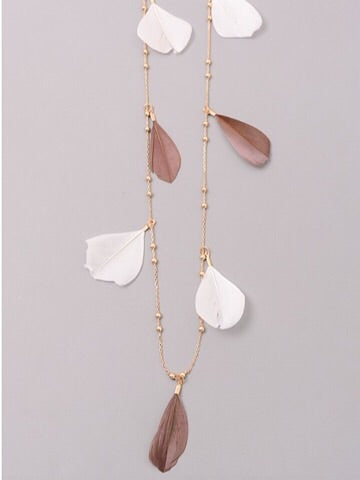 Fly Away Feather Necklace | sassyshortcake.com | Sassy Shortcake