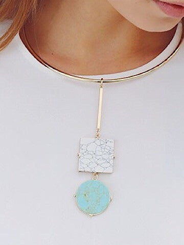 geometric choker necklace | sassy shortcake | sassyshortcake.com | mint condition