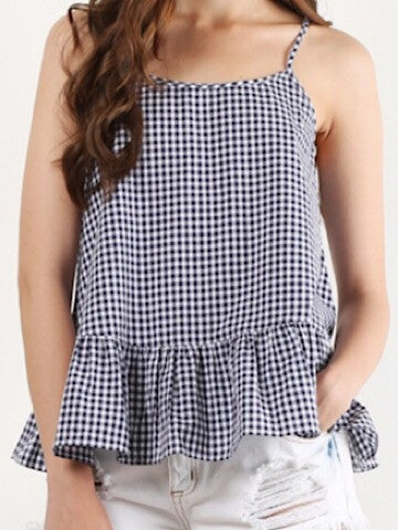 gingham peplum top | pep in my step | sassy shortcake
