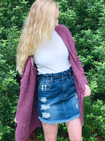 Wishing and Waiting Cardigan | Purple