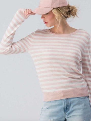 Happy Place Sweater | Blush
