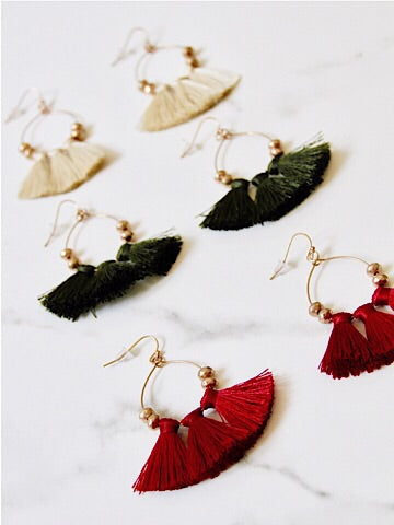 Shimmy and Shake Tassel Earrings | sassyshortcake.com | Sassy Shortcake