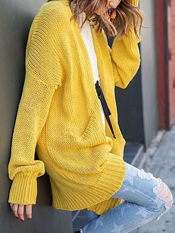 News Flash Chunky Mustard Sweater | sassyshortcake.com | Sassy Shortcake