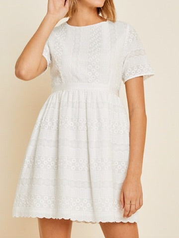 Tell It Again White Embroidered Dress | sassy shortcake | sassyshortcake.com