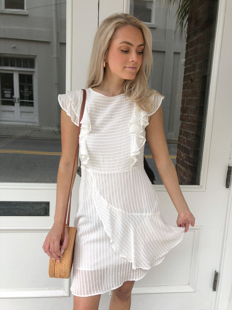Sweet Bliss Airy White Dress | Sassy Shortcake Boutique | sassyshortcake.com