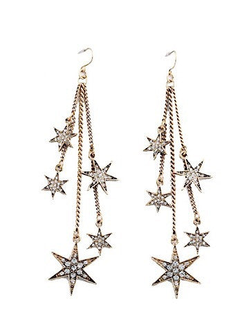 shooting star earrings | star gazer | sassyshortcake.com | sassy shortcake boutique