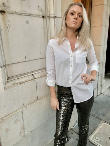 Black Tie Sequin Leggings