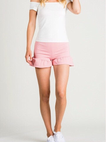 for the frill of it | pink ruffle shorts | sassyshortcake.com