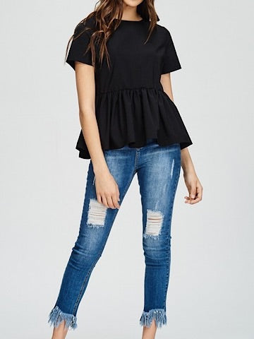 Back At It Black Bow Top | sassyshortcake.com | Sassy Shortcake