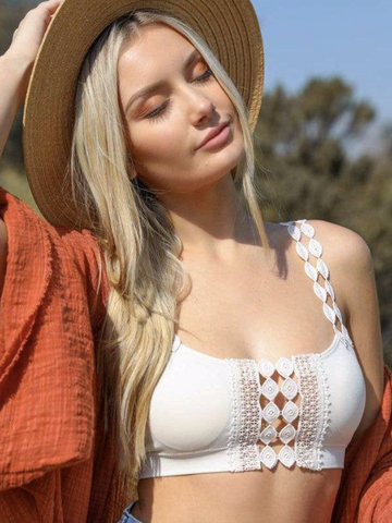 Look Back Bralette | Sand
