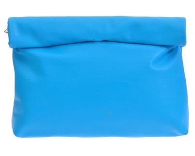 Bright Blue Roll Down Clutch | Sassy Shortcake