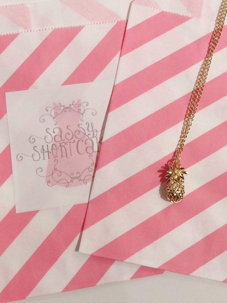 Pineapple Charm Necklace | Sassy Shortcake Boutique