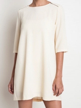 Pleated Pretty Dress - Cream | Sassy Shortcake | sassyshortcake.com