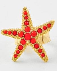 Starfish Ring in Blood Orange
