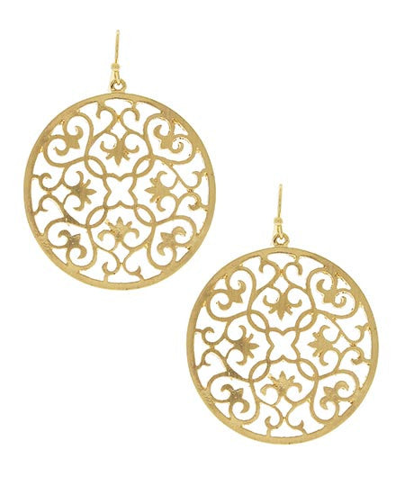 Gold Gateway Earrings