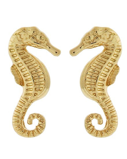 Seahorsin' Around Earrings Gold