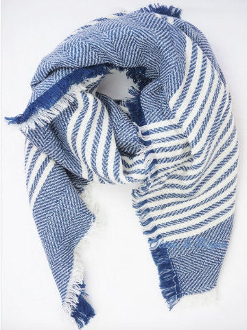 seawall blue and white striped scarf | sassyshortcake.com