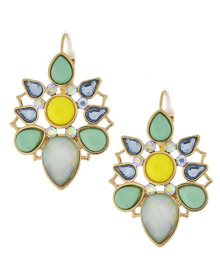 Suzette Earrings - Blue