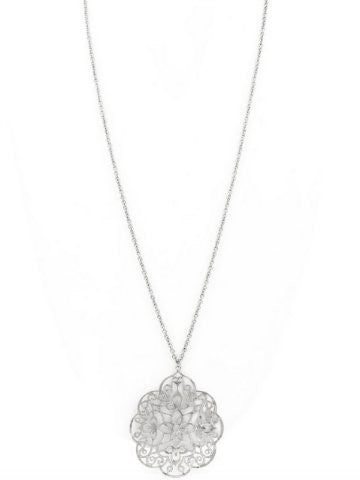 Fancy Filagree Necklace | Silver
