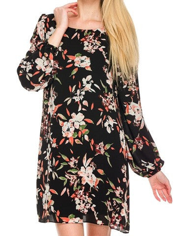 floral shift dress | sassyshortcake.com