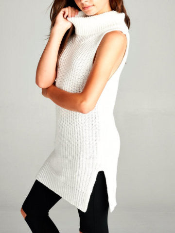 white sweater tunic top | sassy shortcake | sassyshortcake.com