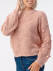Blush Pom Pom Sweater So Cozy | Sassy Shortcake | sassyshortcake.com