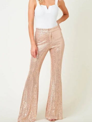 Stunner Rose Gold Sequin Pants
