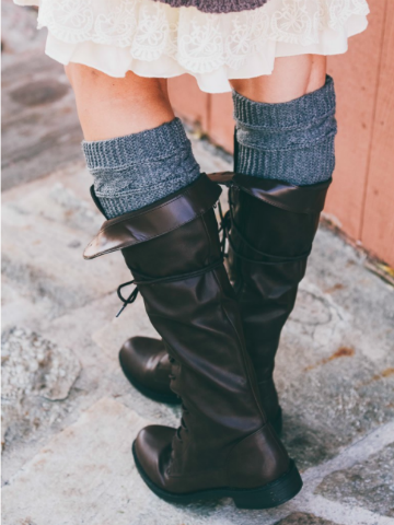 cable boot cuffs | sassyshortcake.com