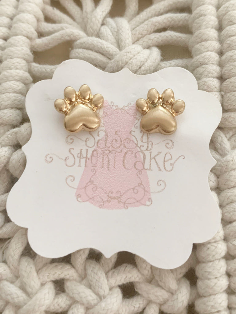 Sweet Dog Paw Earrings | sassyshortcake.com | Sassy Shortcake