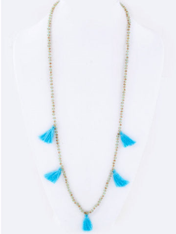 Tassel Necklace | Blue