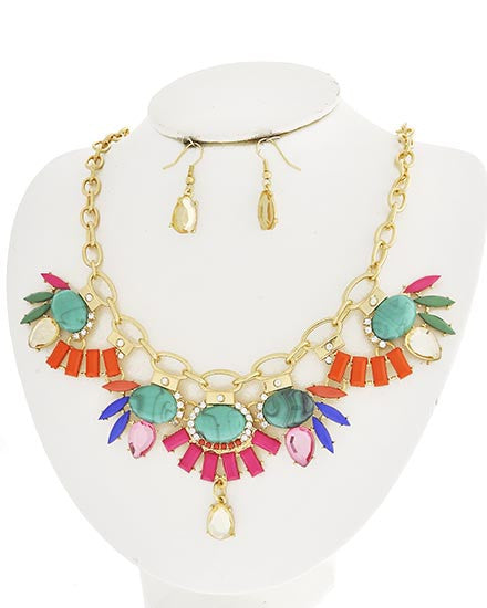 Shades of Summer Statement Necklace Set