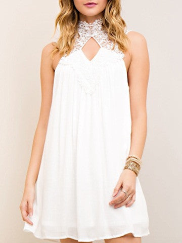 Willow Knoll White Crochet Dress | sassyshortcake.com | Sassy Shortcake