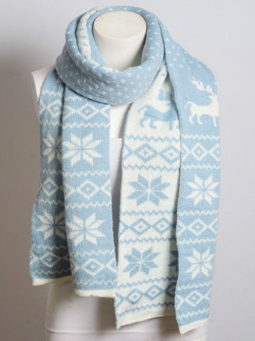 Winter Blues Scarf