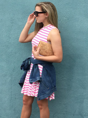 pink stripe dress | sassyshortcake.com | sassy shortcake charleston boutique
