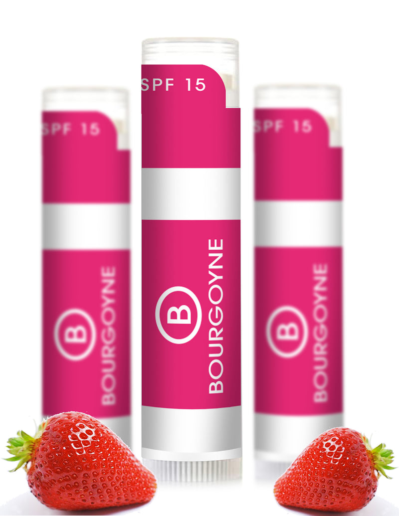 Strawberry SPF 15 Lip Balm - 3 Pack
