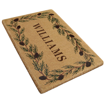 Evergreen Mat - 22 x 36 - Personalized-Heavy Duty Cocomat-Accentuary
