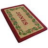 Holly Ivy Border Mat - Personalized-Heavy Duty Cocomat-Accentuary