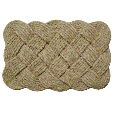 Lover's Knot Mat Natural-Doormats-Accentuary