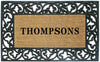 Acanthus Border - 30 x 48 - Personalized-Rubber Coir Mats-Accentuary