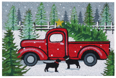"Fetch a Tree Christmas Mat - (18"" x 27"")"