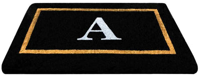 Black Coir Single Frame Mat  - (22 x 36) - Monogram