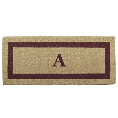 Single Picture Frame Mat - (24 x 57) - Monogram - 3 Colors Available-Heavy Duty Cocomat-Accentuary