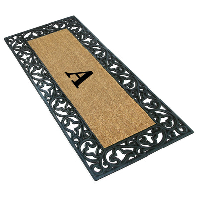 Handmade Coir Welcome Mat with Monogram