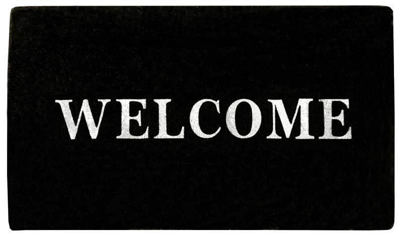 Coir B&W Welcome Mat